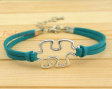 Puzzle Piece Autism Friendship Bracelet